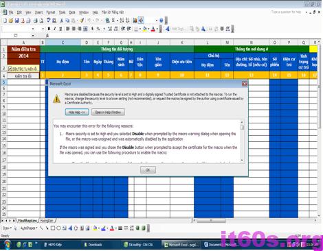 kích hoạt Macro trong Microsoft Excel
