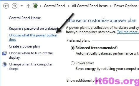 Kích hoạt tính năng khởi động nhanh cho Windows 8