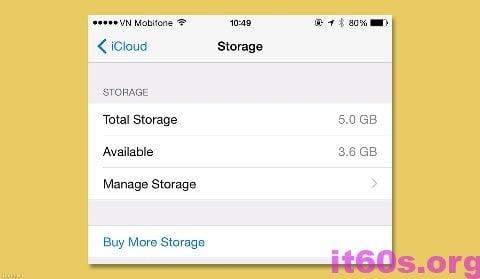giải phóng dung lượng cho tài khoản iCloud đơn giản