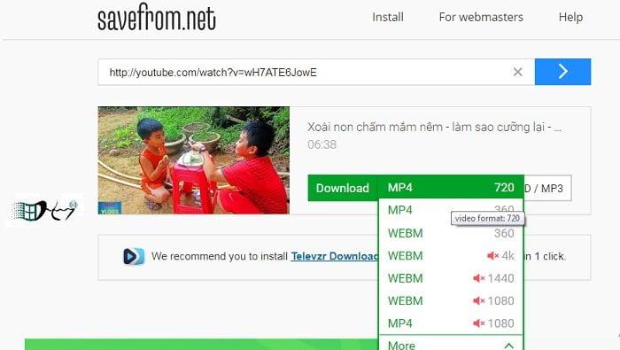 Tải nhanh video youtube không cần phần mềm