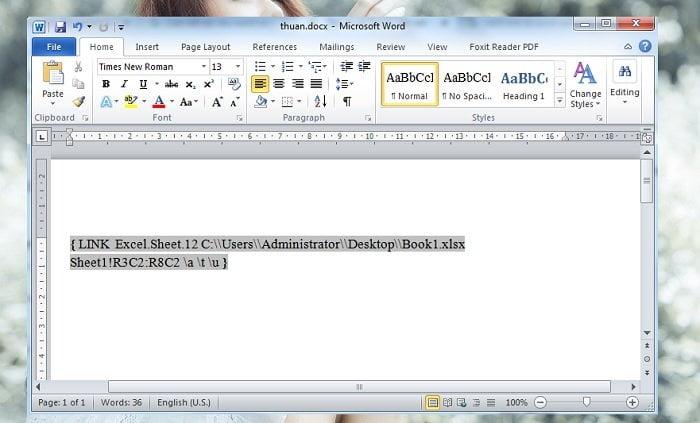 Cách liên kết dữ liệu word và excel thật là đơn giản dễ dàng 5