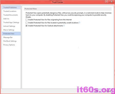 Vô hiệu chế độ mở File an toàn trong Word