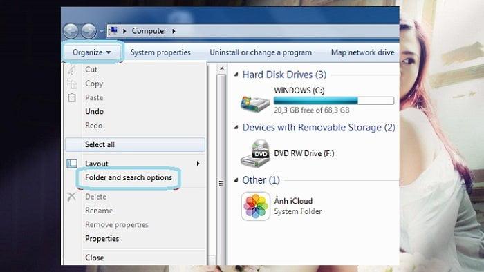 Cách xem tất cả các tập tin ẩn trên hệ điều hành Windows 3