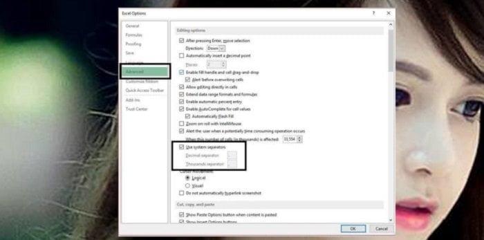 Cách đổi dấu phẩy thành dấu chấm trong Excel đơn giản nhất 4
