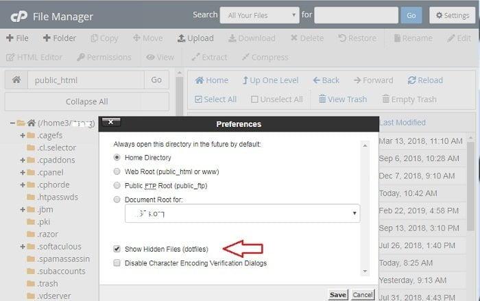 Cách hiển thị file htaccess trong cpanel mới nhất hiện nay 5
