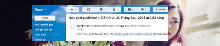 Cách tự động gửi bài viết mới qua Email cho người dùng 14