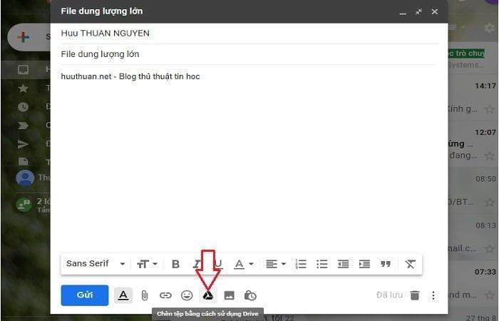 Cách gửi tập tin dung lượng cực lớn trong Gmail đơn giản 3
