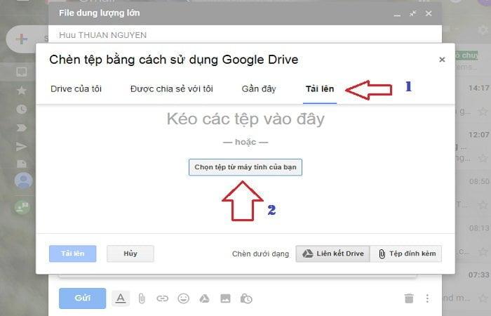 Cách gửi tập tin dung lượng cực lớn trong Gmail đơn giản 4