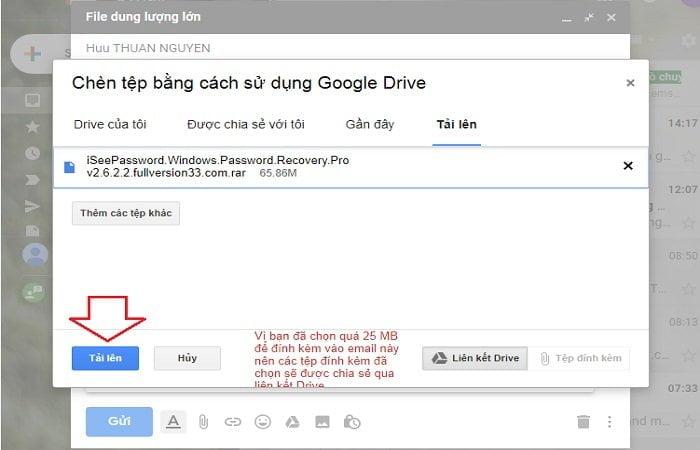 Cách gửi tập tin dung lượng cực lớn trong Gmail đơn giản 6