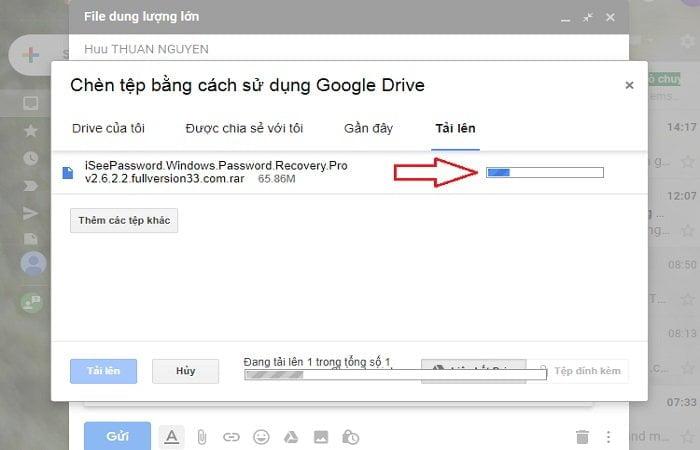 Cách gửi tập tin dung lượng cực lớn trong Gmail đơn giản 7