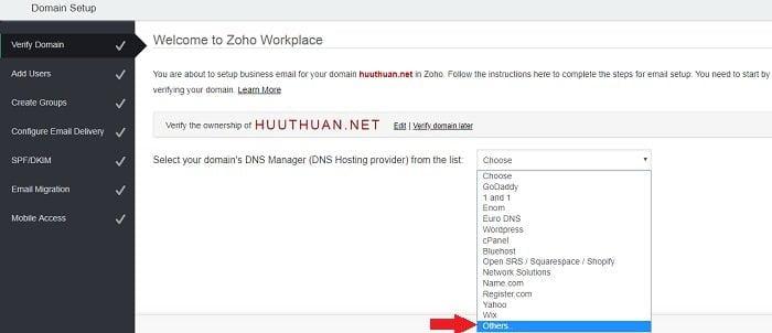 Cách tạo Email theo địa chỉ tên miền miễn phí từ Zoho 7