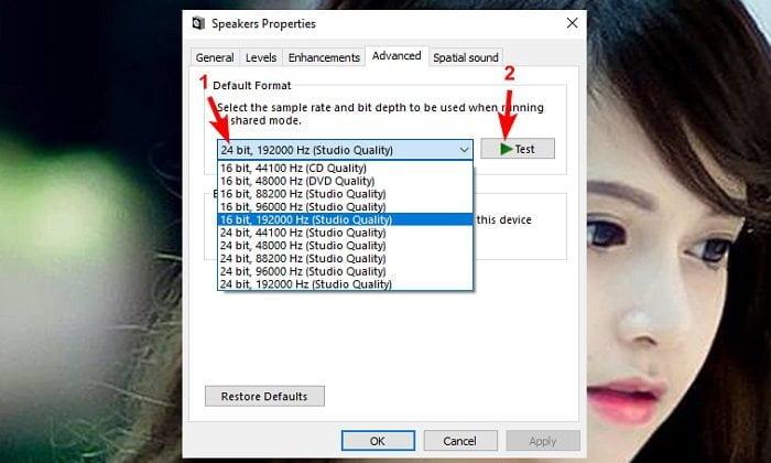 Khắc phục lỗi âm thanh khi nâng cấp lên windows 10 6