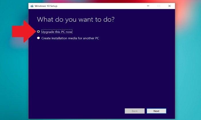 """Cách nâng cấp lên Windows 10 khi """"Windows update"""" không hoạt động 2"""