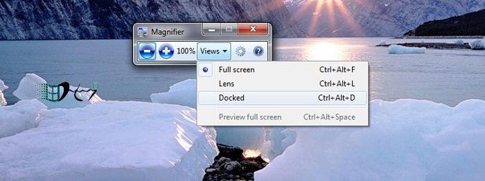 sử dụng kính lúp (Magnifier) trên Windows