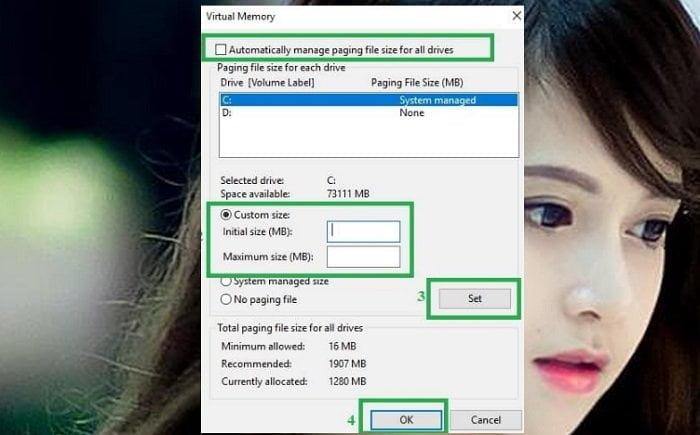"""Cách khắc phục lỗi """"Your Computer Is Low On Memory"""" trên máy tính 4"""