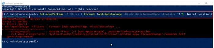 Cách sửa chữa Menu Start và Cortana không làm việc trên windows 10 3
