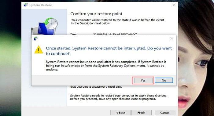 """Cách phục hồi hệ thống """"System Restore"""" trên windows 10 7"""