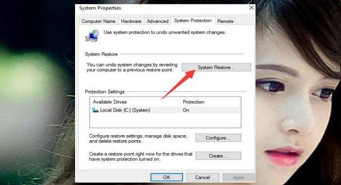 """Cách phục hồi hệ thống """"System Restore"""" trên windows 10 8"""