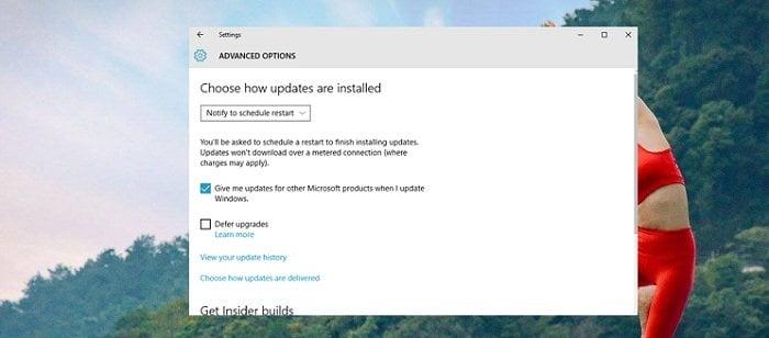 Kích hoạt các tiến trình hữu ích trên windows 10 update 15