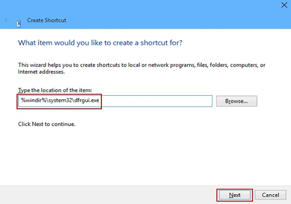 Cách tạo shortcode chống phân mảnh và tối ưu trên windows 10 1