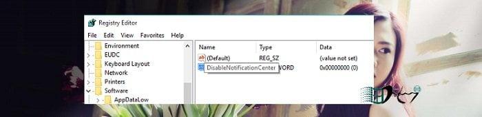 Vô hiệu tính năng thông báo Action Center trong Windows 10 4