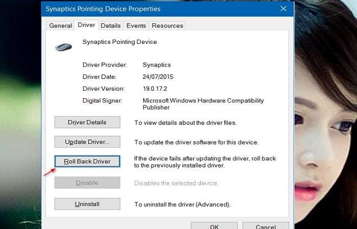 Cách khôi phục lại phiên bản Driver cũ trong Windows 10 3