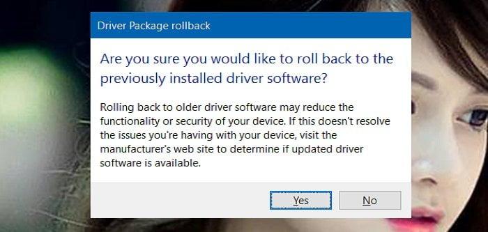 Cách khôi phục lại phiên bản Driver cũ trong Windows 10 4
