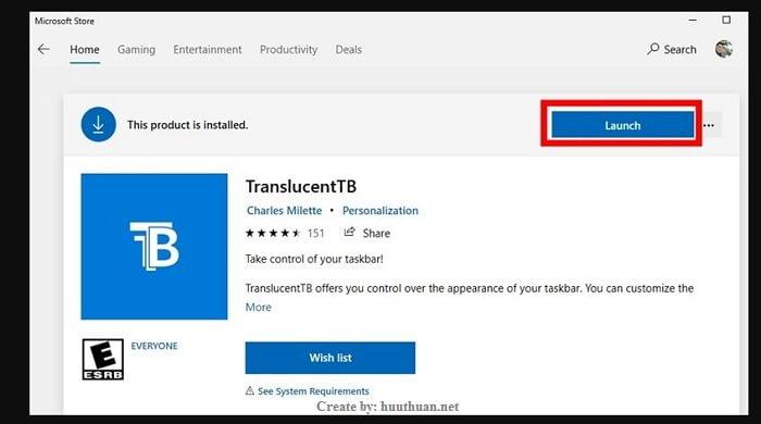 Mẹo làm trong suốt thanh Taskbar Windows 10 cực đẹp 1