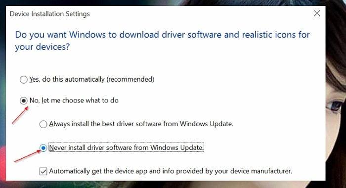 Cách vô hiệu hóa tự động cập nhật Driver trên Windows 10 3