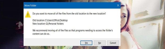 Cách di chuyển thư mục Downloads & Documents trong Windows 10 5