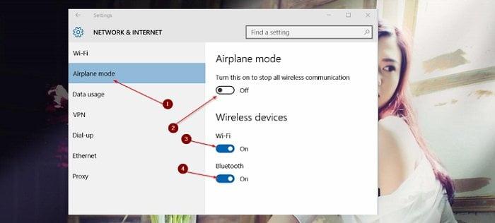 """Cách khắc phục chế độ """"Máy bay"""" đã vô hiệu nhưng vẫn hoạt động 2"""