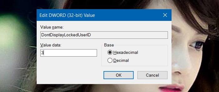Cách ẩn tên và địa chỉ Email trên màn hình Login trong Windows 10 6