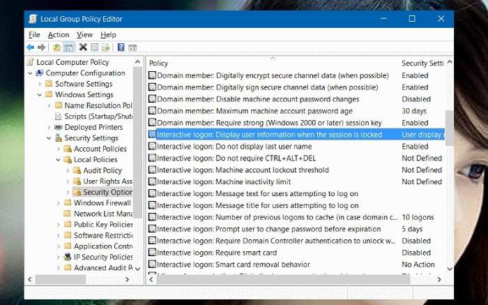 Cách ẩn tên và địa chỉ Email trên màn hình Login trong Windows 10 8