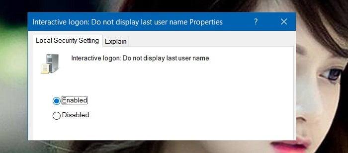 Cách ẩn tên và địa chỉ Email trên màn hình Login trong Windows 10 11