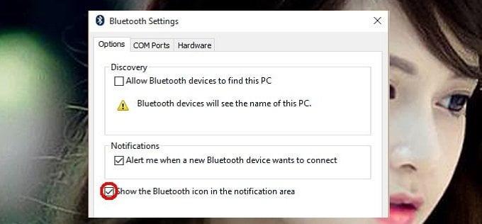 Cách lấy lại Icon Bluetooth trên khay hệ thống Windows đơn giản 8