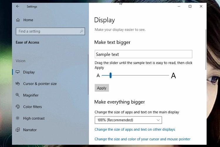 Thay đổi kích thước phông chữ trong trình quản lý tệp (File Explorer) Windows 10 2