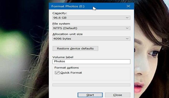 Cách định dạng phân vùng ổ đĩa trong Windows 10 đơn giản 2