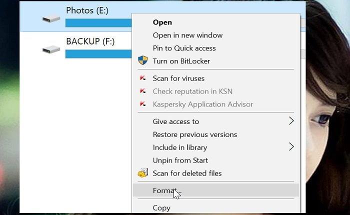Cách định dạng phân vùng ổ đĩa trong Windows 10 đơn giản