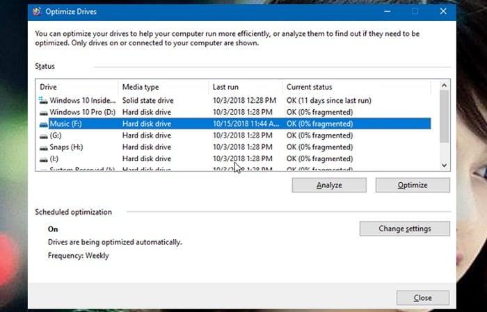 Cách tối ưu hóa ổ đĩa HDD hoặc SDD trong Windows 10 4