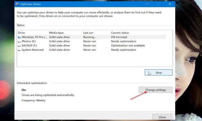 Cách tối ưu hóa ổ đĩa HDD hoặc SDD trong Windows 10 5