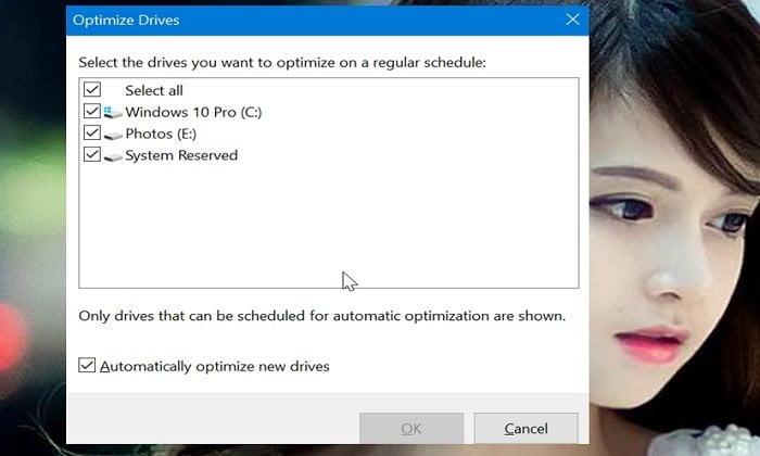 Cách tối ưu hóa ổ đĩa HDD hoặc SDD trong Windows 10 7
