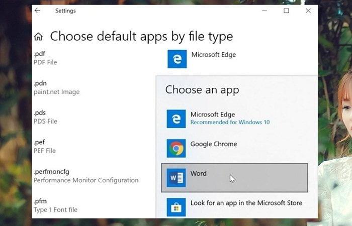 Cách đặt Microsoft Office Word mở tệp mặc định trong Windows 10 4