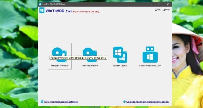Cài lại Windows không cần đĩa DVD, USB với WinToHDD chỉ 1 Click 2
