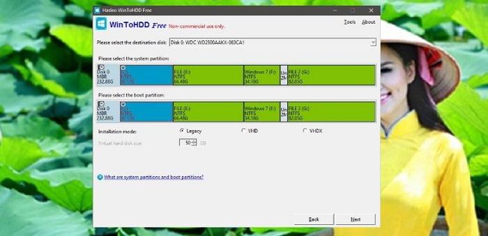 Cài lại Windows không cần đĩa DVD, USB với WinToHDD chỉ 1 Click 5