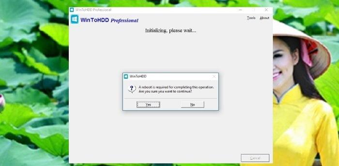 Cài lại Windows không cần đĩa DVD, USB với WinToHDD chỉ 1 Click 6