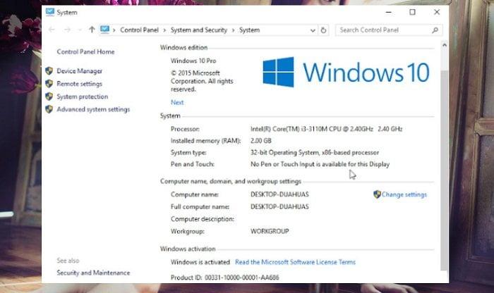 2 cách kích hoạt Windows 10 miễn phí không cần bất kỳ phần mềm nào 7
