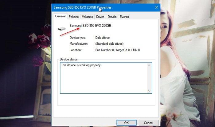 Các cách kiểm tra Windows 10 của bạn có sử dụng ổ đĩa SSD? 3