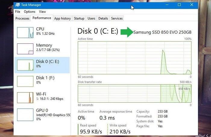 kiểm tra Windows 10 của bạn có sử dụng ổ đĩa SSD?