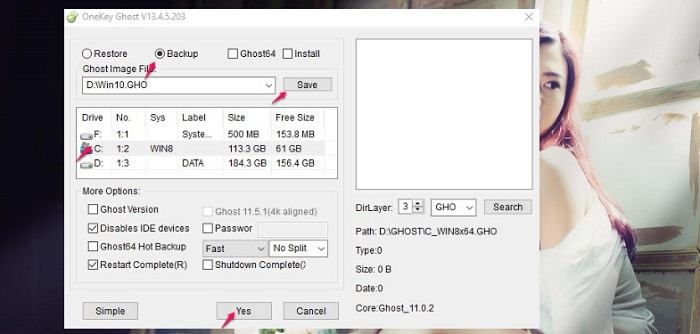 Cách sử dụng Onekey Ghost để tạo File ghost