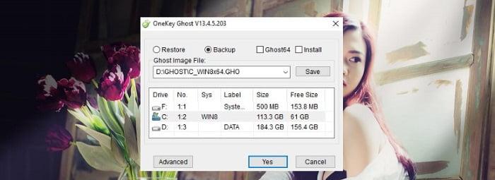 Cách sử dụng Onekey Ghost để tạo File ghost (.GHO) cho Windows 2